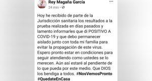 Da positivo a Covid, presidente de Valle Nacional