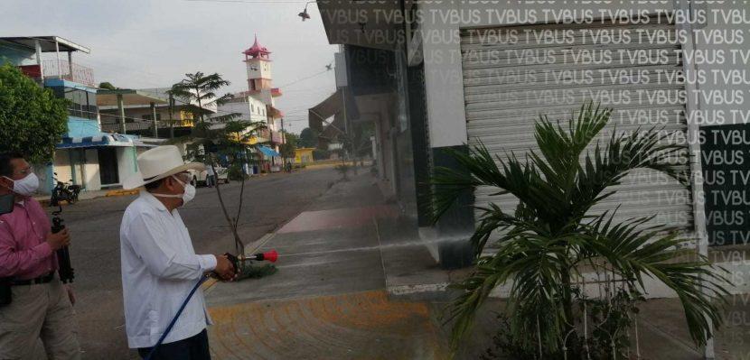 Inician jornada de sanitización en Loma Bonita