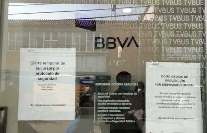 Bancos de Tuxtepec, optan por cerrar para evitar contagios de covid
