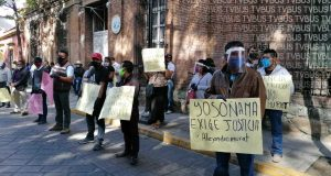A pesar de contingencia, Antorchistas se vuelven a manifestar en Oaxaca