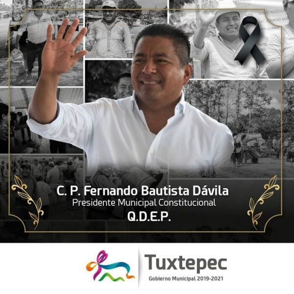 Muere por Covid-19, Presidente de Tuxtepec