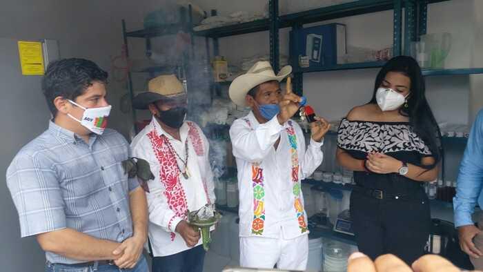 Inauguran farmacia de medicina tradicional en Jalapa de Díaz, para combatir al covid
