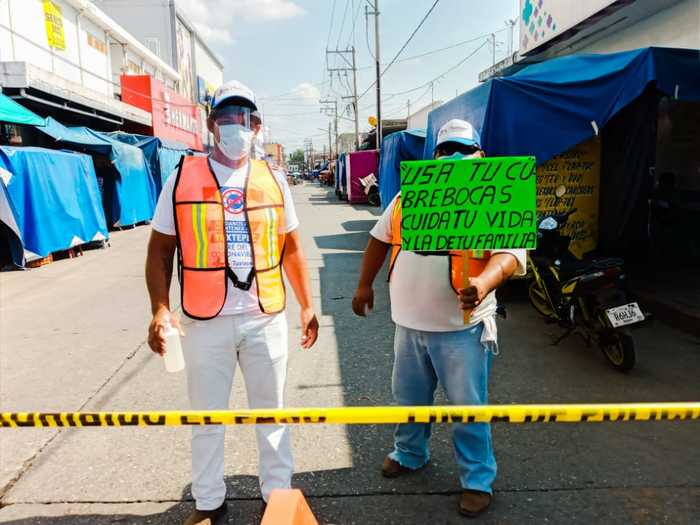 Responde ciudadanía al llamado del Gobierno Municipal, para reducir contagios de Covid-19 en Tuxtepec