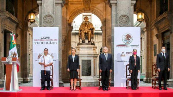 Principios y postulados de Benito Juárez, guías de la función pública del Gobierno de Oaxaca: AMH