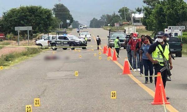 Asesinan a tres hombres y una mujer en Ocotlán de Morelos