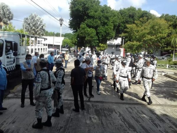Tras superar los mil casos de covid en la Cuenca, realizan operativo de prevención en Tuxtepec