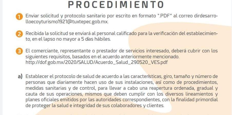 """Anuncia Ayuntamiento de Tuxtepec, protocolo para reapertura con """"Nueva normalidad"""""""