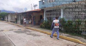 Pese a casos de Covid, lamentable que en comunidades y colonias de Valle Nacional no dejen sanitizar