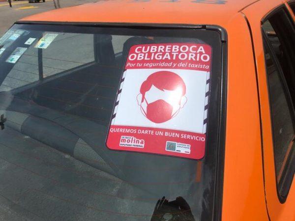 Respalda Diputado Irineo Molina campaña de uso de cubre bocas impulsada por taxistas