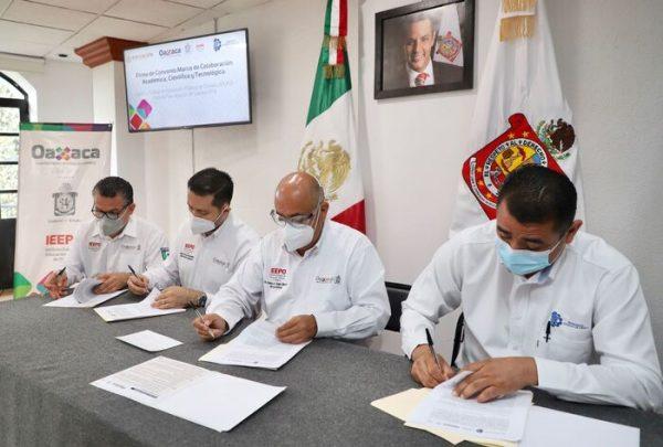 Unen esfuerzos IEEPO y el ITO a favor de la actividad académica, científica y tecnológica