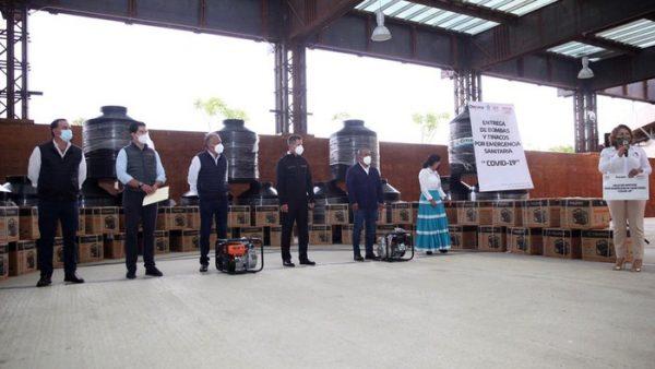 Beneficia Gobierno de Oaxaca a 85 municipios con insumos para el suministro de agua durante esta pandemia