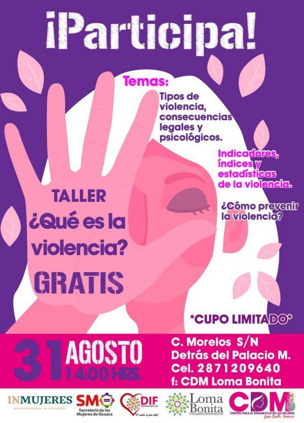 CDM de Loma Bonita registra alrededor de 10 casos de violencia