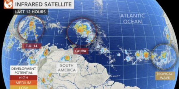 Alertan por dos tormentas simultáneas en costas del Golfo de México