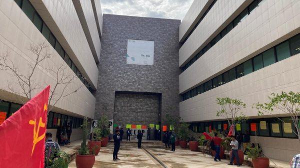 Integrantes de FPR y CCCP se manifiestan en Ciudad Judicial; exigen falta de atención a sus demandas