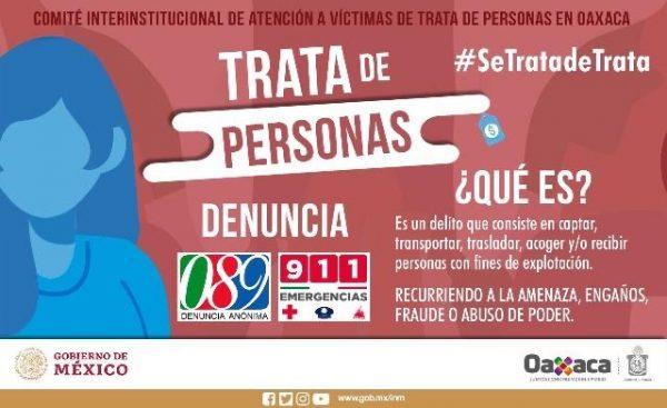 """Participa DIF Oaxaca y PRODENNAO en la presentación de la Campaña """"Se Trata de Trata"""""""