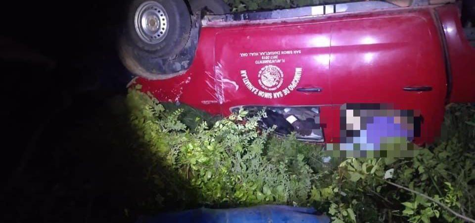 Edil de San Simón Zahuatlán fallece en accidente vial