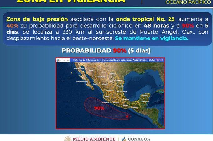 Ciclón Tropical en el Océano Pacífico amenaza costas de Oaxaca