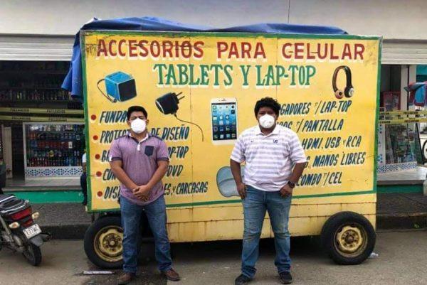 Con murales en carritos ambulantes de Tuxtepec, buscan seguir lucha contra el covid