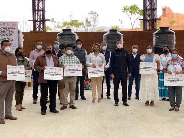 Edil de Tuxtepec Noé Ramírez, recibe apoyos del Programa Emergencia Sanitaria Covid-19
