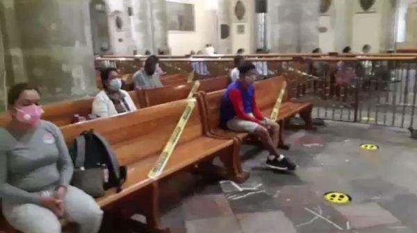 Reabren catedral de Oaxaca al público, tras varios meses de permanecer cerrada por la pandemia