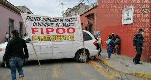 FIPOO bloquea calles de Oaxaca, piden ser incluidos en programas municipales