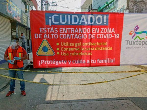 Gobierno de Tuxtepec seguirá con medidas,  ampliará el cerco de calles cerradas