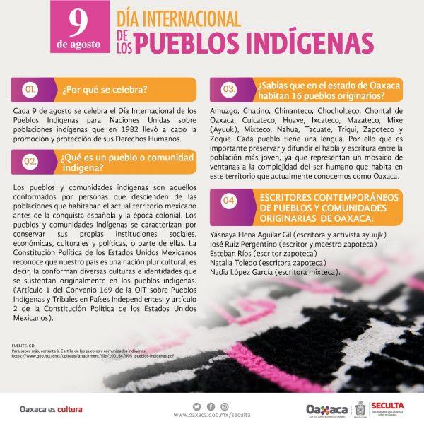 Para celebrar el Día Internacional de los Pueblos Indígenas, la Seculta difunde programación especial