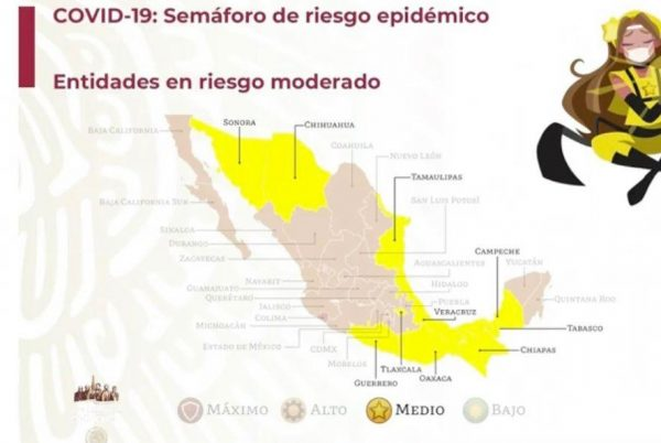 Oaxaca pasará a semáforo amarillo el próximo lunes