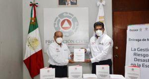 Presentan IEEPO-CEPCO manual 'La Gestión de Riesgos de Desastres en la Escuela. Materiales para la capacitación'