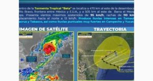 Tormenta tropical 'Beta' ocasionará lluvias en casi todo el país