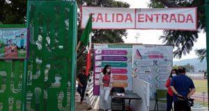 Cumplen parques públicos de Oaxaca, con medidas sanitarias para prevenir el COVID 19
