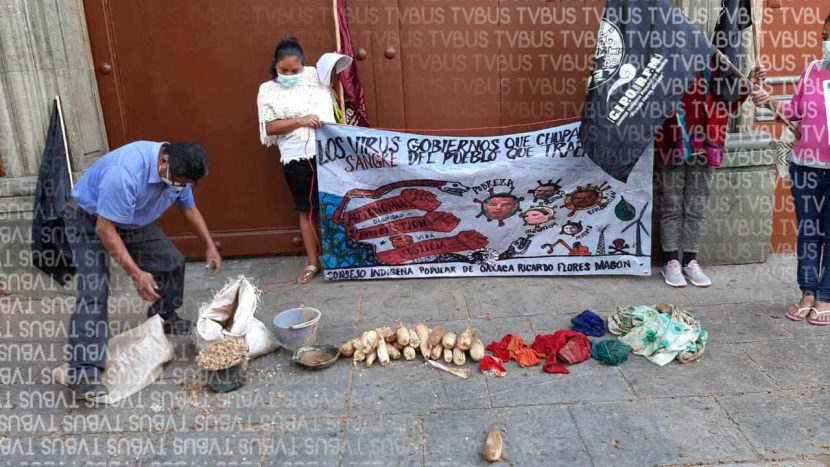 CIPO se manifiesta en Oaxaca, exigen atención a damnificados de Santiago Jocotepec