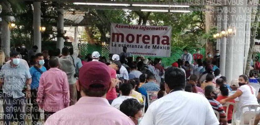 En plena contingencia, MORENA realiza asamblea informativa en Tuxtepec