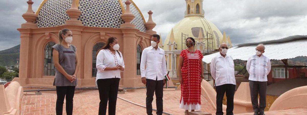Entregan Gobierno de Oaxaca y Secretaría de Cultura federal Catedral de Huajuapan restaurada