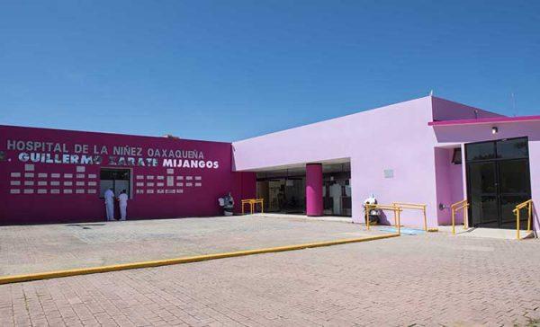 Suman 8 niños fallecidos por covid, en Hospital de la Niñez Oaxaqueña