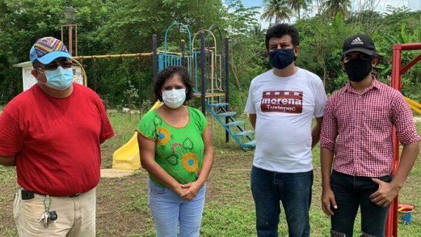 Avanza rehabilitación de unidad deportiva El Bosque en Tuxtepec