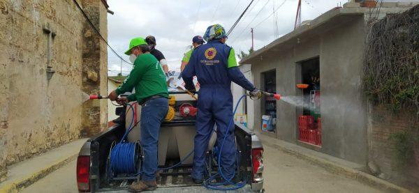 Mantiene CEPCO trabajos de sanitización en municipios de Oaxaca