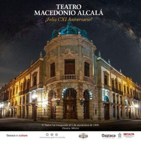 Celebrará CXI aniversario el emblemático teatro Macedonio Alcalá