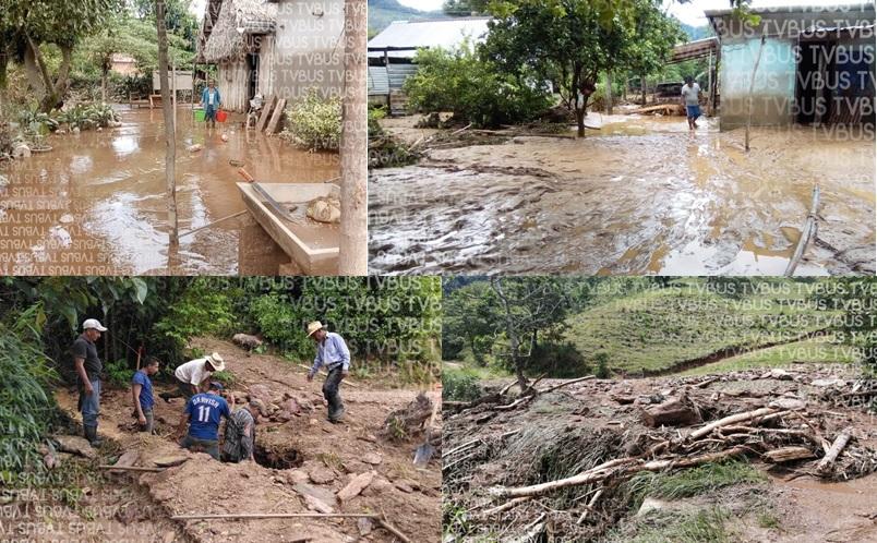 Lluvias dejan afectaciones en viviendas y caminos en Choapam