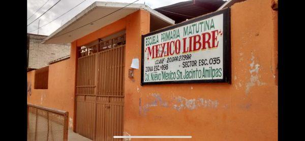 Todas las escuelas ubicadas en San Jacinto Amilpas están cerradas para evitar contagios por COVID-19