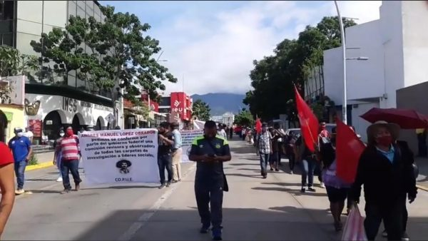 Una vez más con marcha, organizaciones piden cese la violencia contra líderes