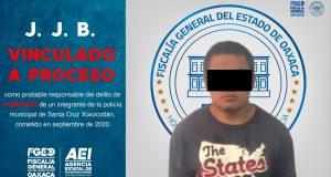 Vinculan a proceso a presunto asesino de policía municipal de Xoxocotlán