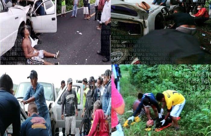 Brutal accidente en la Costa deja 1 muerto y 6 lesionados graves