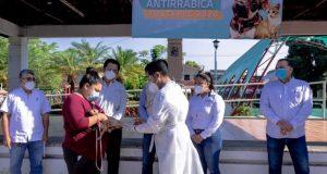 Gobierno de Tuxtepec y Jurisdicción Sanitaria 03 arrancan Campaña de Vacunación Antirrábica