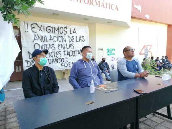 Frente de organizaciones estudiantiles de la UABJO denuncian persecución de autoridades universitarias