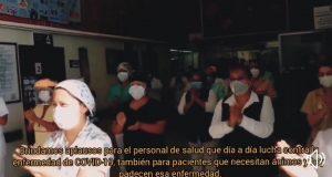 Con aplausos, agradecen al personal del IMSS de Tuxtepec, su lucha contra el covid