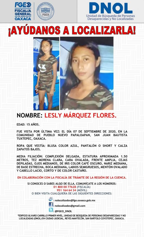 Desaparece joven en la comunidad de Pueblo Nuevo en Tuxtepec