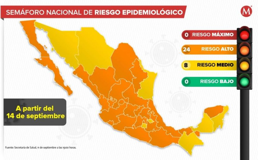 Oaxaca regresa a semáforo naranja