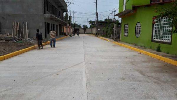 Avanza la construcción de la obra pública 2020 en Tuxtepec
