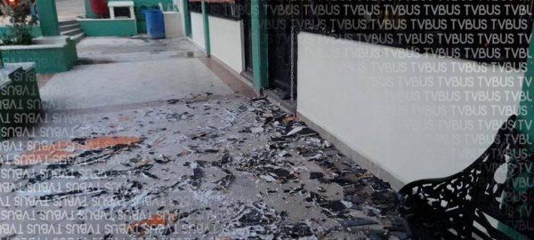 Incendian oficinas en palacio de San Antonio de la Cal en Oaxaca
